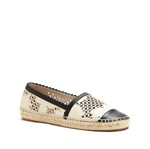 Louise et cie Andra laser cut scalloped espadrille